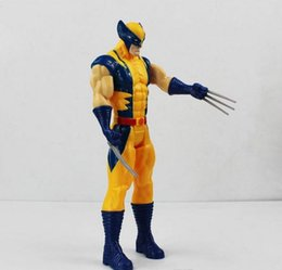 Wholesale Wholesale Sale Models Figures - 2016 Super Hero Wolverine Moving of the limbs PVC Action Figure Collectible Model Toy Hot sale 30cm Free Shipping