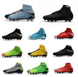 Wholesale Cheap Soccer Cleats Free Shipping - 2017 Cheap High Quality Hypervenom Phantom DF FG Men's Soccer Shoe boots Free Shipping Mens Hypervenom 3 cleats soccer football shoes online