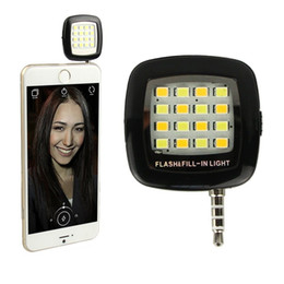 Wholesale Smart Torch Light - Selfie Light Torch Mini Portable Selfie Flash Light 16 LEDS Flash Fill Light Match With Selfie LED For Smart Phone