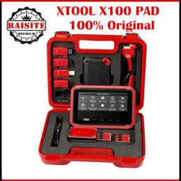 Wholesale Usb Eeprom Programmer - 100% Original XTOOL X-100 x100 x 100 PAD Tablet Key Programmer with EEPROM Adapter free shipping via dhl with good feedback