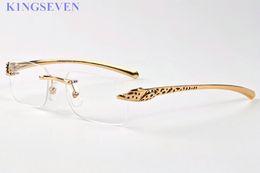 Wholesale Sunglasses Spot - top quality spot leopard panther brand sunglasses women Original men designer buffalo horn sun glasses with box eyeglasses