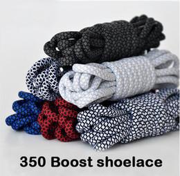 Wholesale Wholesale Shoe Laces - retail 350 boost Shoelaces kanye west shoes Shoe Laces 350 V2 Runner Shoe Laces turtle dove pirate black colors 12Cm