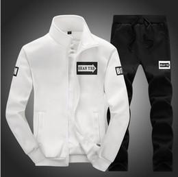 Wholesale Big Mens Sportswear - Big Size Sport Suits Men Sportswear Sets Warm Gym Clothes Fleece Fabric Male Winter Tracksuit Running Jogging Suit Mens