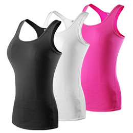 Wholesale Running Tank Tops - 2016 New Women Quick Dry Sleeveless Shirts Fitness Exercise Training Athletic Vest Running Workout Sports Yoga Tank Tops Gym tank tops