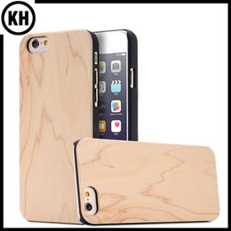 Wholesale Iphone Handmade Hard Case - Eco Handmade True Maple Wood Bamboo Case Wooden Cellphone Cover For iPhone6 7 iPhone6 Plus 6S Plus 7 Plus Hard Back Protection Cases