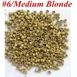 микро-кольца бисер для наращивания волос Скидка 1000pcs/Bag 5.0mmx3.0mmx3.0мм микро алюминий с силиконовыми кольцами ссылки/бусины для наращивания волос инструменты 8 цветов
