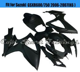 Wholesale cheap plastics for motorcycles - Solid Black Fairing 06GSXR600 Fairing Kit Fit for Suzuki GSXR600 750 2006 2007 K6 Plastic Bodywork Bodyframe for Motorcycle Cheap Fairing