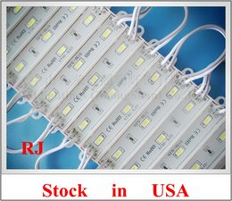 Wholesale Waterproof Led Lights 1w - Stock in USA SMD 5730 waterproof LED module back light backlight for letter sign 3*SMD5730 1W 100lm IP66 75mm(L)*12mm(W) CE