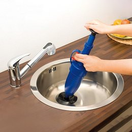 Wholesale Bathroom Pipes - Home High Pressure Air Drain Blaster Pump Plunger Sink Pipe Clog Remover Toilets Bathroom Kitchen Cleaner Kit