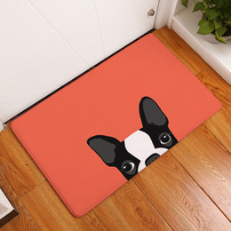 Wholesale Home Kitchen Decor - Cartoon Animal Pattern Lovely French Bulldog Anti-Slip Carpet New Home Decor Doormat Kitchen Bathroom Livingroom Floor Mat Rug 40x60 50x80cm