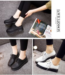 Wholesale England Shoes Women - HOT SELL British style leather shoes rub color Martin College Wind women students shoes shoes shoes bulk shoes Martin England