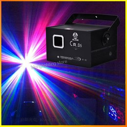 Wholesale Equipment For Party - Blong CR-06 RGB 1000mw 1W Multi-color Laser Light Stage Light projector Red&Bule&Green Spotlights for DJ Club Party Disco stage equipment