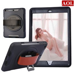 Wholesale Screen Protector For Tab3 - Heavy Duty Hybrid Shockproof Case TPU Tablet PC & Protector with Stand Leather belt for iPad 2 3 4 air Mini galaxy tab3 T110