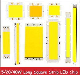 Wholesale Fluorescent Strip Lights - Wholesale-1pcs New High Power 5w 6w 10w 15w 20w 40w 50w COB LED Warm White White Square Strip Light Lamp Bead Chip 9 12 15 24 30 36V