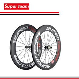 Wholesale Carbon Bike 88mm Wheelset - Superteam carbonklammer wheelset 700C 88MM fahrradräder Für rennrad räder matte finish Drahtreifen
