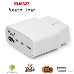 Wholesale Ford Dhl - 100 pcs lot A+ Quality 2016 ELM327 wifi Original Vgate iCar elm327 WIFI OBDII OBD2 diagnosticfor iPhone IOS Android PC iPad DHL FreeShipping