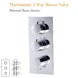 Wholesale Concealed Shower Valves - New Designs Bathroom 3 Way Thermostatic Shower Mixer Brass Shower Control Valve Tap Temperature Control Shower Switch Concealed Faucets