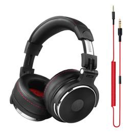 Wholesale Dj Stereo - headphone Oneodio Wired Headphones Studio Professional Headphone with Microphone Over Ear Monitor Studio Headphones DJ Stereo Headsets