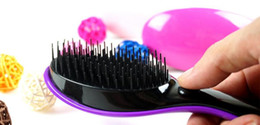 Wholesale Electric Hot Comb Hair - Electric comb DD magic hair comb the second generation of electric massage comb comb not knot Magic shunfa a comb Salon HOT