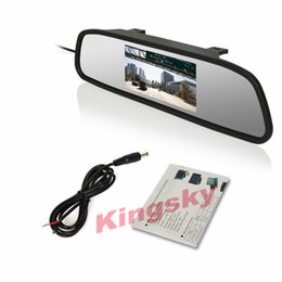Wholesale Car Roof Lcd Screen - 4.3 Inch TFT Car Monitor Mirror View Rearview Auto LCD Screen Backup Camera for Car Reversing Record