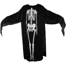 Wholesale Ghost Cloak - 120cm Hallowee skeleton cape cloak kids black god of death cloaks cosplay devil cape Cloak Witch Wizard Cloak ghost capes
