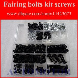Wholesale 93 Zx 11 Fairings - Fairing Screw Bolts Kit black For KAWASAKI NINJA ZX-11 ZZ-R1100 93-01 ZX11 ZZR1100 93 94 95 96 97 98 99 00 01 Fairings Bolts Screws