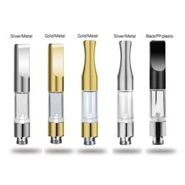 Wholesale Gold Drip Tips - None Spilling G2 Atomizer Round Flat Drip Tip Gold Chrome Tank for Thick Oil vs CE3 Bud Touch Atomizer