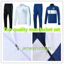 Wholesale Waterproof Jacket Xl Adult - AAA+top quality RONALDO tracksuit 2017 2018 Real Madrid jackets SERGIO RAMOS KROOS BENZEMA JAMES BALE ISCO 17 18 adult tracksuit jacketS