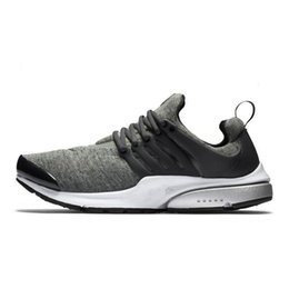 Wholesale Hard Soled Shoes - 2016 Air Presto TP QS Tech Fleece Black And Grey 812307-002 walking shoes flat shoes creepers Sock-Dart PU Sole Runner casual shoes