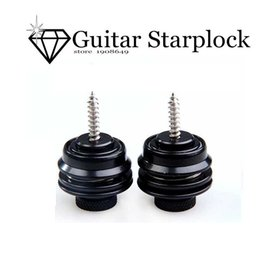 Wholesale Electric Guitar Locking - Wholesale- Muse-high quality New 2Pcs Black Strap Locks Straplock Flat Head Safety for Electric Guitar Bass straplock