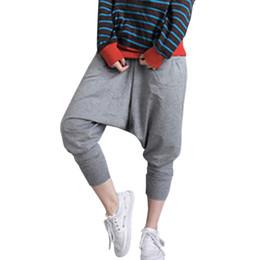 Wholesale Baggy Women Pants Wholesale - Wholesale-2016 Women Men Harem Pants Baggy Hip Hop Dance wokrout Sweat Pants Casual Trousers Slacks