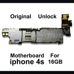 Wholesale Iphone 4s Logic Board Motherboard - Wholesale-Unlocked Original 16GB Phone Mainboard For Iphone 4S, 100% Working EU version Motherboard With Full Chips Logic Board