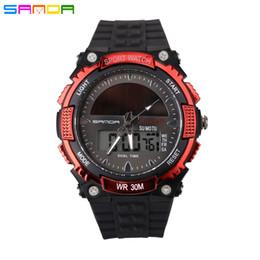 Wholesale Men Watches Solar - Hot Solar energy Men Outdoor Sports Watches waterproof Military LED Watch Digital Quartz Wristwatches Relogio Masculino 2016