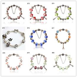 Perle de verre pagode tibétaine en argent avec bracelet à breloques, bracelet de perles européennes bricolage féminin 6 pièces beaucoup de style mélangé GTPDB8 ? partir de fabricateur