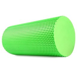 Wholesale Yoga Foam Rollers - 3.93 inches Eva Yoga Pilates Foam Roller Body Massage Gym Fitness with Trigger Points Muscle Relaxation Roller Physio Blocks Exercise