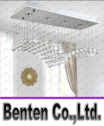 Wholesale Cristal Ceiling Led - Modern Wave Shape K9 Crystal Ceiling Lighting Hanging From LED Lights Wire Bar Restaurant Shop Rectangular Cristal Ceiling lamp LLFA