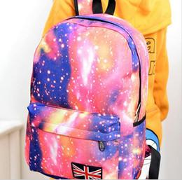 Wholesale Travel Bags British Flag - Fashion Unisex Stars Universe Space Printing Backpack School Book Backpacks British-flag Shoulder Bag Casual Bags Travel Backpack