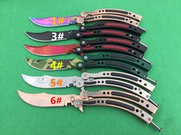 Wholesale Hiking Fire - CF Cross Fire original magic butterfly microtech knives flail Hunting Folding Pocket Knife flail knife Survival Knife 1ps freeshipping