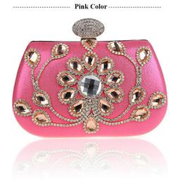Borse blu prom online-Nuovo stile strass discoteca borsa formale abito pochette borsa di promenade festa di nozze blu oro argento viola rosa