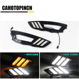 Wholesale Daytime Running Led Ford Focus - Turn Signal and dimming style Relay 12v LED Auto Car DRL daytime running light Bumper Front Fog lamp for Ford Focus 4 2015 2016