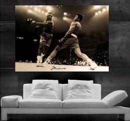 paredes cubiertas de madera Rebajas Muhammad Ali vs capataz Cartel de arte de la pared de impresión 8 piezas gigante enorme cartel de arte de impresión NO24