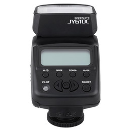 Wholesale Speedlite Ttl - original VILTROX JY-610C photography equipment Mini LCD TTL flash Speedlite strobe lights flash triggers infrared for Canon