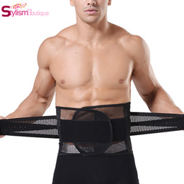 Wholesale Slimming Shapers - Wholesale-2016 Hot Shapers Waist Training Corsets for Men Slimming Underwear Men Body Shaper Shapewear Waist Trainer Belt Fajas Reductora