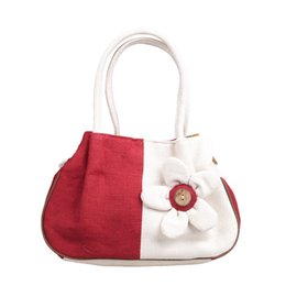 Wholesale Canvas Bags Colour - Flower bag canvas bag mini reticule women bag handbag Shoulder Bags fashion partysu Style Totes bags four colour B155
