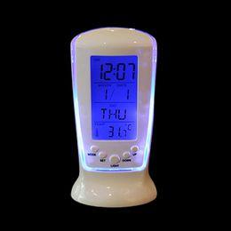 Wholesale led clock diy - Multi Functional Clock LED Calendar Thermometer Display Clock with Backlight Digital Home Desktop Table Clock Alarm Clock-NZ-510