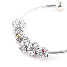 Wholesale Original Love Bracelet - 50PCS Wholesale 925 Silver charms beads Fit Original Pandora Bracelet Pendants Authentic DIY identical Jewelry