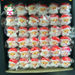 Wholesale Toy Clause - New Creative LED flashing rings led Christmas Toys Santa clause rings children's finger lights flash toys Free Shipping