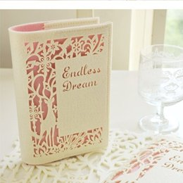 "Wholesale Blank Business - ""Endless Dream"" Luxury Fabric Soft Cover Diary Blank Paper Planner Journal Travel School Notebook Pocket Agenda Scheduler Gift"
