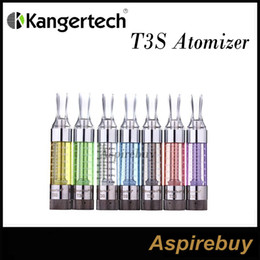 Wholesale Kangertech T3s Wholesale - 100% Authentic Kanger T3S Atomizer Tank update Clearomizer Cartomizer Kangertech T3S With Changeable Coil Kanger 100% Original