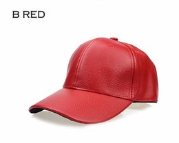 Wholesale Wholesale Leather Caps Hats - 2016 new fashion PU black Baseball For men fall Leather cap Trucker Sports snapback winter hats for women